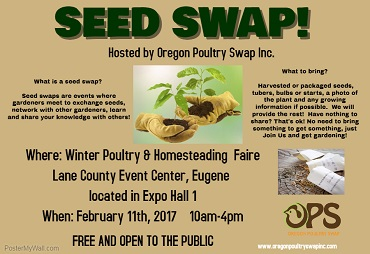 Winter Poultry and Homesteading Faire - Eugene - FOOD For