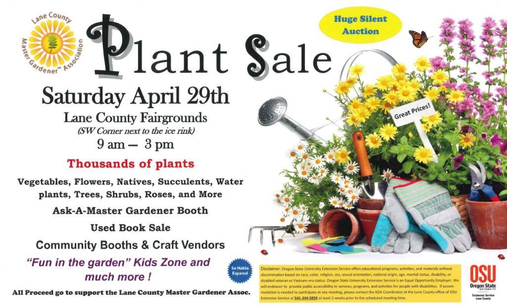 Lane County Master Gardener Association Plant Sale Food For Lane County