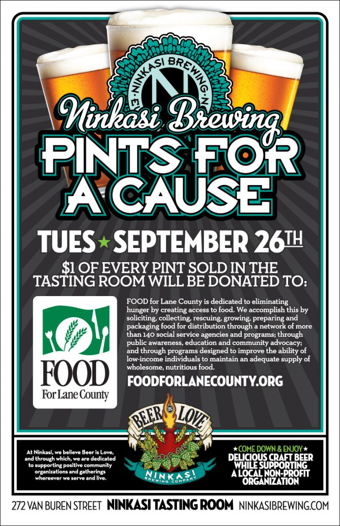Pints for a cause food for lane county food for lane county for Cuisine for a cause