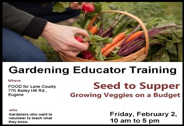 Seed To Supper Garden Educator Training