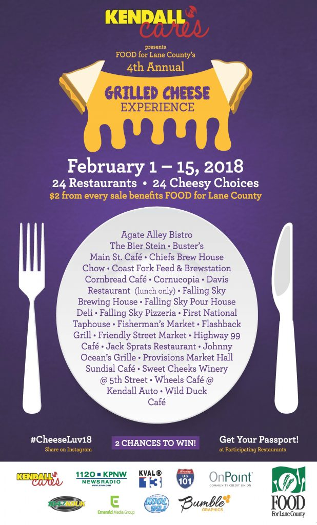 4th Annual Grilled Cheese Experience Food For Lane County
