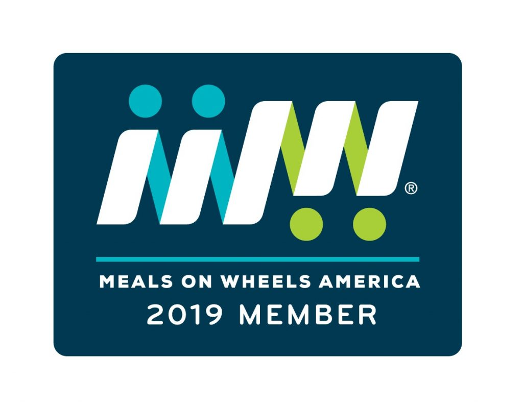 Meals on Wheels member badge.