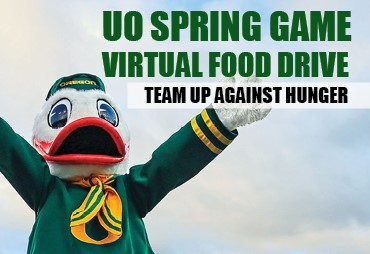 uo spring game virtual food drive team up against hunger