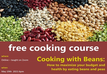 cooking with beans on zoom may 19 at 6pm