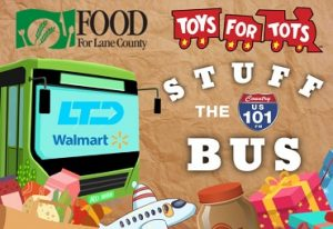 food for lane county toys for tots stuff the bus ltd walmart us 101 fm