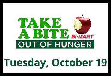 take a bite out of hunger bimart tuesday october 19